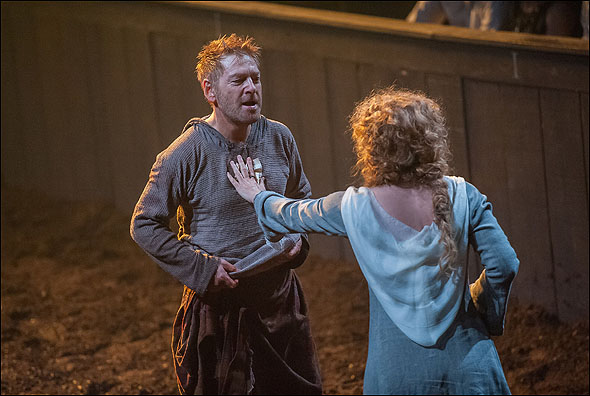 a review of macbeths relationship with the witches in the play macbeth Macbeth is a play about political uncertainty — the  macbeth review:  and there's a passionate warmth and hunger in their relationship that turns to horror.
